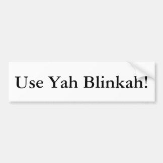 Utilice a la pegatina para el parachoques de Yah