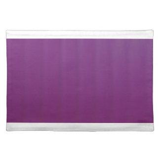 Uva Placemat púrpura con los bordes blancos Salvamanteles