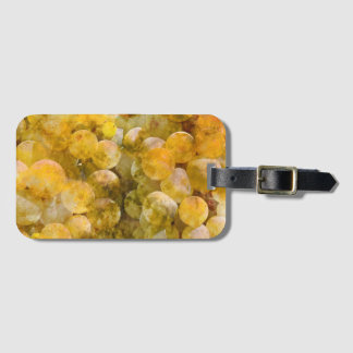 Uvas de Chardonnay en la vid Etiqueta Para Maletas