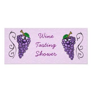 Uvas de la invitación de la ducha o del fiesta de