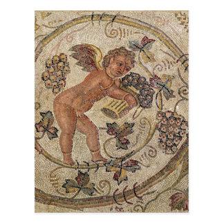 Uvas de una cosecha del cupid, fragmento del postal