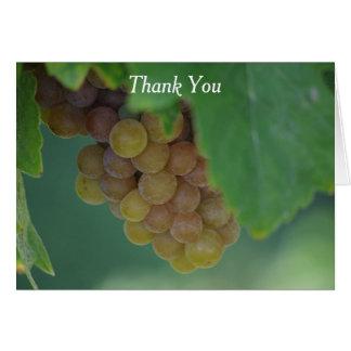Uvas verdes tarjeta pequeña