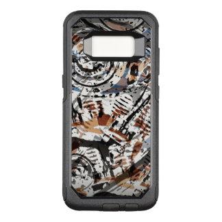 V-Gemelo abstracto reverso Funda Otterbox Commuter Para Samsung Galaxy S8