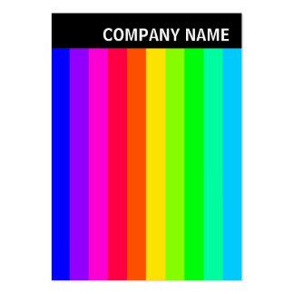 V jefe - foto - barras de color 03 tarjetas de visita grandes