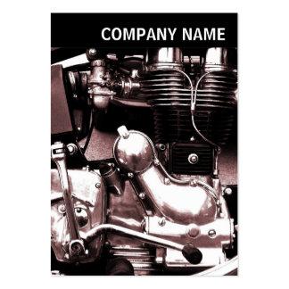 V jefe - imagen - motor clásico de la moto tarjetas de visita grandes