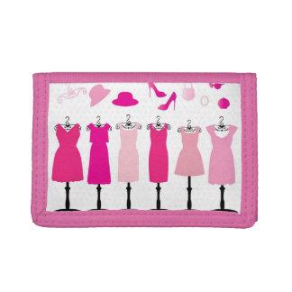 V vestido rosado - cartera de nylon triple