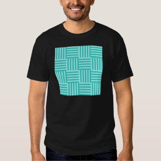 V y rayas amplias de H - Celeste y turquesa Camisetas