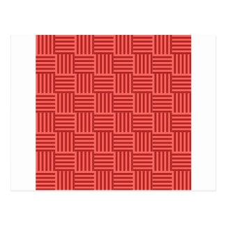 V y rayas de H - rojo en colores pastel y Postal