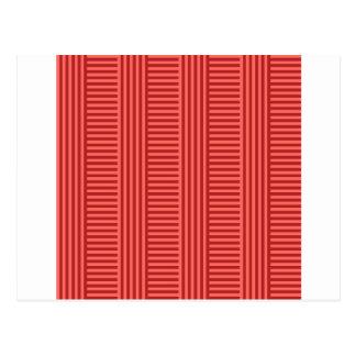 V y rayas simples de H - rojo en colores pastel y Postal