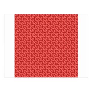 V y zigzag de H - rojo en colores pastel y Postal