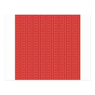 V y zigzag simple de H - rojo en colores pastel y Postal