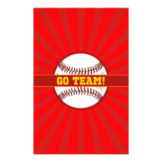 Va el béisbol del equipo papelería de diseño