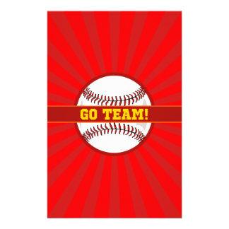 Va el béisbol del equipo  papeleria de diseño