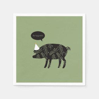 ¡Va el cerdo salvaje! servilletas Servilletas De Papel