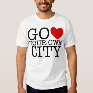 Va el corazón su propia ciudad camisetas
