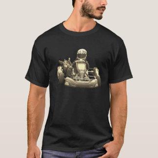 Va el corredor de Kart Antiqued Camiseta