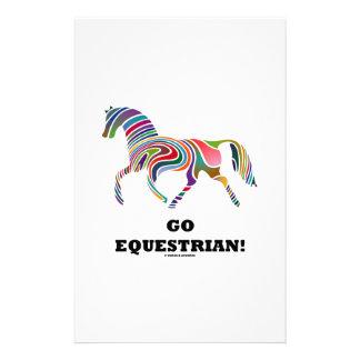 ¡Va el Equestrian! (Remolino del color del caballo Papeleria De Diseño