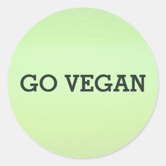 Va el sistema del pegatina del vegano
