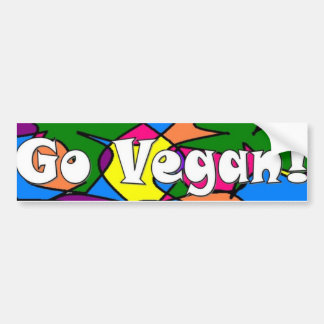 Va el vegano etiqueta de parachoque