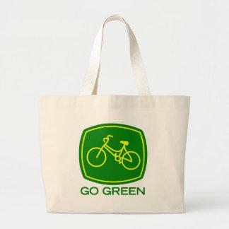 Va el verde bolso de tela gigante