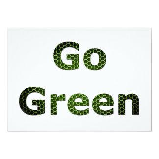 Va el verde invitación 12,7 x 17,8 cm
