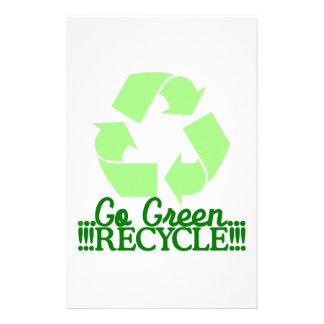 Va el verde papelería de diseño