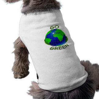 Va el verde camiseta sin mangas para perro