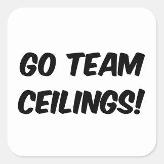 Va fan de los techos del equipo la última colcomania cuadrada