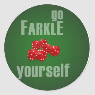Va Farkle usted mismo Pegatinas Redondas
