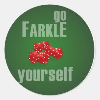 Va Farkle usted mismo Pegatina Redonda
