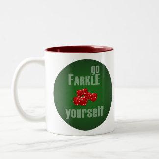 Va Farkle usted mismo Taza De Dos Tonos