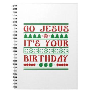 Va Jesús que es su cumpleaños Libretas Espirales