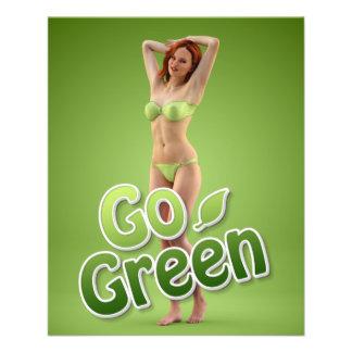 Va la belleza verde del chica flyer personalizado
