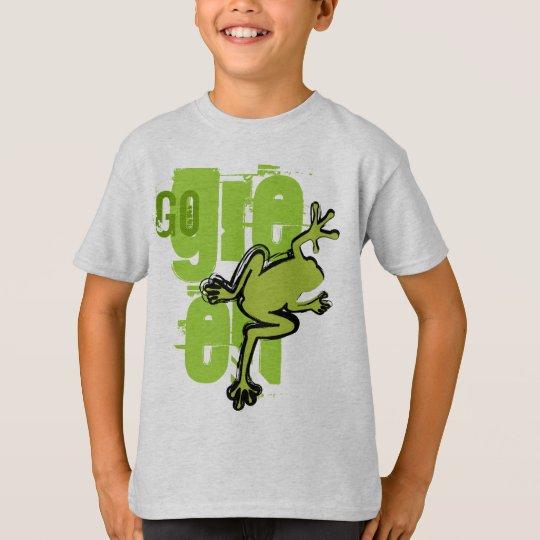 Va la camiseta de la rana verde