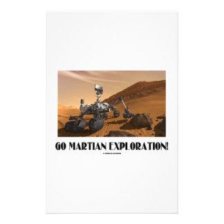 ¡Va la exploración marciana! (Curiosidad de Marte Papeleria De Diseño