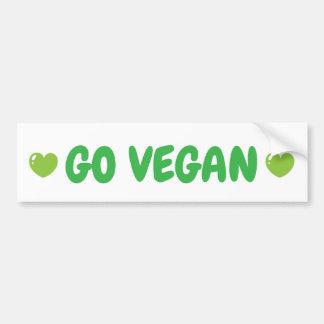 Va la pegatina para el parachoques del vegano