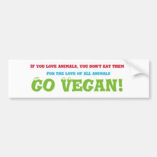 Va la pegatina para el parachoques del vegano pegatina para coche