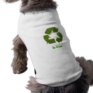 Va la ropa verde del mascota camisa de perro