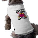 Va Shorty que es su Bday Camiseta De Perrito