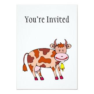 Vaca Bell Invitación 12,7 X 17,8 Cm