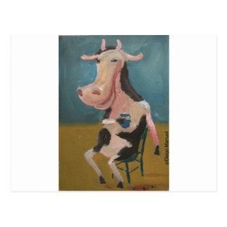 vaca borracha postal