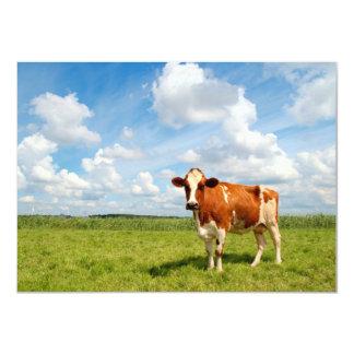 Vaca curiosa que se coloca en prado anuncio personalizado