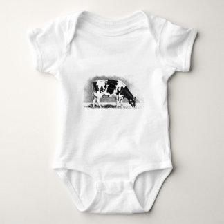 Vaca de Holstein: Dibujo de lápiz: Granja, país Body Para Bebé