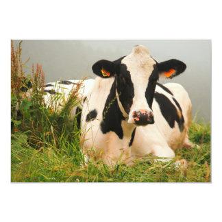 Vaca de Holstein Invitación 12,7 X 17,8 Cm