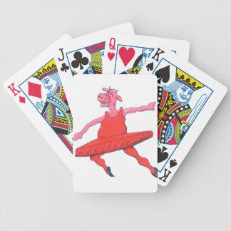 Vaca de la bailarina baraja de cartas bicycle
