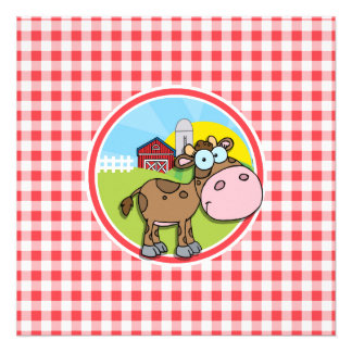 Vaca de la granja; Guinga roja y blanca Comunicado Personal