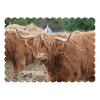 Vaca de la montaña invitación personalizada