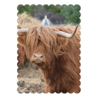 Vaca de la montaña invitaciones personalizada