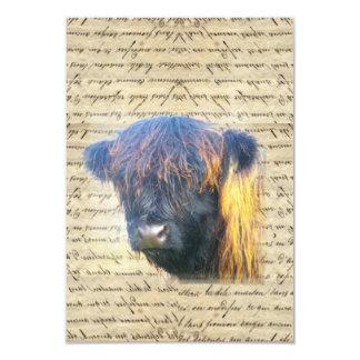 Vaca de la montaña invitación 8,9 x 12,7 cm