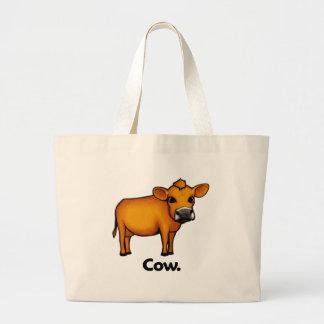 Vaca de la vaca bolsa tela grande